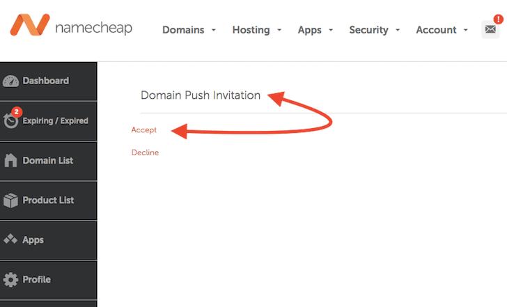 acepta transferir dominios namecheap