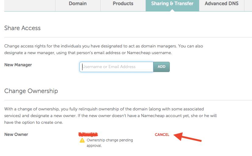 mover dominios en namecheap